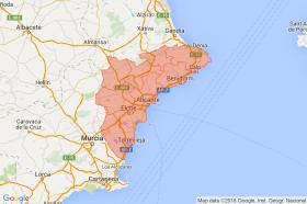 Search by map of Alicante