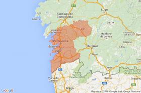 Search by map of Pontevedra