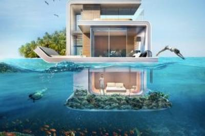 Dubai shows a new project: spectacular floating apartaments with underwater rooms
